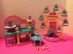 Squinkies Blip Toys Lot Ferris Wheel Doos Beauty Center Dance Pavilion   eBay