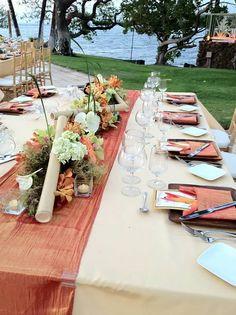 long table centerpiece Long Table Centerpieces, Centrepieces, Autumn Wedding, Rustic Wedding, Wedding Inspiration, Wedding Ideas, Orange Wedding, 15th Birthday, Birthday Ideas