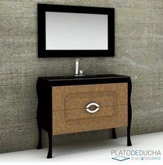 Mueble de Baño Classic. Conjunto de alta gama con acabado Polilaminado. Sencillo pero con un toque diferente Nightstand, Table, Furniture, Bathroom, Home Decor, Bathroom Furniture, Compact Bathroom, Minimalist Style, Apartment Bathroom Design