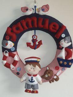Felt name wreath