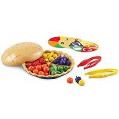 Rainbow Color Sorting Sensory Bin - The Resourceful Mama