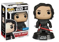 Star Wars The Force Awakens: Unmasked Kylo Ren Pop figure by Funko, Walmart exclusive
