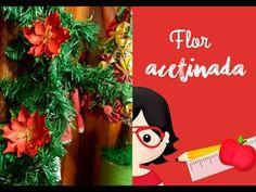 PAP - Flor Efeito Acetinado com Carimbeira - Especial de Natal #4