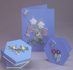 Card and Gift Box Kit - Summer Flowers quilling kit www.customquilling.com