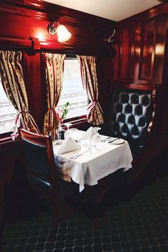 The most luxurious train in Africa: Rovos Rail.