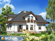 Dom w firletkach Beautiful House Plans, Beautiful Homes, Home Fashion, How To Plan, Mansions, House Styles, Home Decor, House Of Beauty, Decoration Home