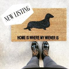 This super popular custom doormat has been added to our shop in honor of 😍🐶______________________________________________Grab some unique gifts this holiday season. and support a dream! Insta Followers, Small Business Saturday, Doormat, Unique Gifts, New Homes, Popular, Photo And Video, Holiday, Shop