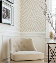 Etosha wallpaper in Grey by Thibaut from Geometric Resource.  I usually hate animal prints - but GD that zebra is HOTT!