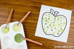 September- Polka dot art is a fun exploration with paint for prekinder kids and it's also a great fine motor activity. You could also connect this with pointillism art Preschool Painting, Preschool Crafts, Kids Crafts, Spring Activities, Motor Activities, Polka Dot Art, Polka Dots, Initial Sounds, Preschool Letters