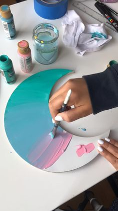 Art Painting Gallery, Diy Painting, Canvas Painting Tutorials, Painting Videos, Diy Arts And Crafts, Diy Crafts, Ideias Diy, Art Drawings Sketches Simple, Diy Canvas Art