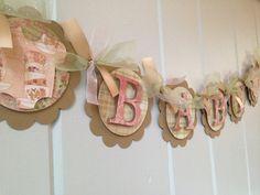 Shabby Chic bebé Banner - Banner de ducha bebé elegante estilo victoriano - niña bebé ducha Banner - Shabby Chic bebé ducha Decor - bebé Banner