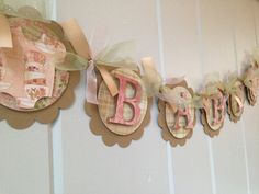 Shabby Chic Baby Banner  Victorian Chic Baby by SharingAPassionINC