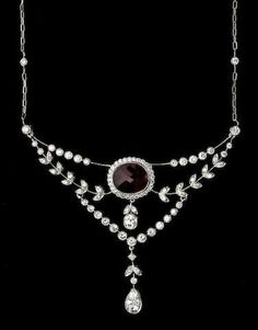 A ruby, diamond, and 18k white gold necklace, R=2.84cts., D=2.41cts.
