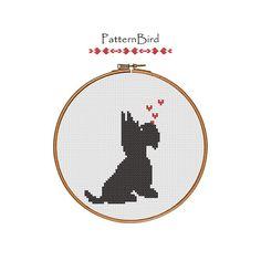 Scottie Dog Love is in the air. Instant Download por PatternBird