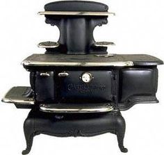 Crawford stoves-Antique Country Cook Stove, Early Victorian Kitchen stove