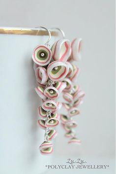 Easy shaped flowers earrings from polymer clay.  Koralky #2 by .Zu.Zu. - SAShE.sk - Handmade Náušnice