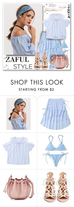 """Zaful Fashion"" by sneky ❤ liked on Polyvore featuring Jil Sander, Aquazzura, polyvoreeditorial and zaful"