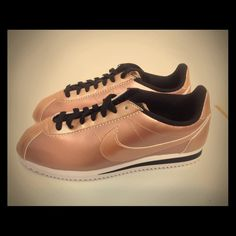 Nike Classic Cortez leather Bronze Brand new with original box very limited No TRADES Nike Shoes Athletic Shoes