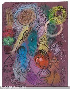 Marc Chagall ~ La Fête du Peintre, 1978