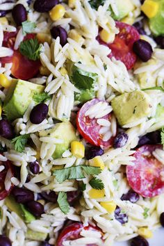 Orzo pasta that is filled with corn, black beans, cilantro, avocado and cherry tomatoes. The cilantro lime ranch dressing on top is incredible! It's hot here in Utah my friends. Like 102 degrees. We only go outside if it involves a kiddie pool and a hose to cool us down. Since I am …