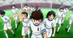 The burning spirit of Nankatsu when they missed the score by Toho Football Art, Chelsea Football, Captain Tsubasa, Tazo, Love Pictures, Sword Art Online, Miraculous, Cartoon Network, Anime