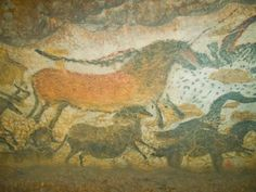 "Discover Cave of Lascaux in Montignac, France: Ancient paintings known as the ""Sistine Chapel of Cave Art. Paleolithic Period, Paleolithic Art, Lascaux Cave Paintings, Falaise Etretat, Art Antique, Archaeological Discoveries, France, Ancient Art, Animal Paintings"