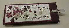 Another chocolate wrapping, Slider Box, Zieh-Verpackung, Petite Petals, Gorgeous Grunge, Schnörkeleien, Birthday gift, Stampin' Up!