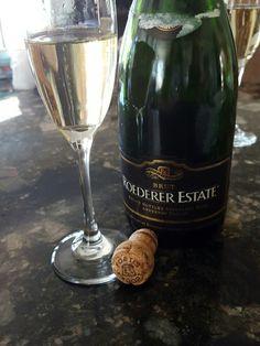 NV Roederer estate sparkling wine.  Brut, but mild.
