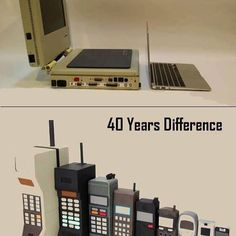 Via Imgur The evolution of technology. #computers #laptops #mobilephones #F4F#electronics #monitor #gadgets #gadget #device Awesome Gadgets, Everyday Items, Technology Gadgets, Laptops, Evolution, Monitor, Computers, Phones, Ipad