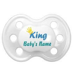 Personalized King and Name Baby Pacifier