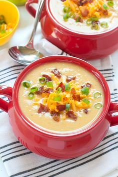 Sweet Potato Cauliflower Soup ...in the crock-pot! :: This slow cooker soup recipe is a hit with family and friends!