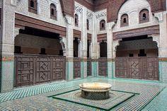Old islamic school in Meknes - Marocco