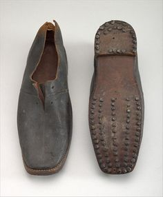 This pair of shoes was said to have been made by a convict from Port Arthur. (Used with permission: Collection: Tasmanian Museum and Art Gal. Van Diemen's Land, John Davis, Port Arthur, Character And Setting, American War, American Revolution, Tasmania, Leather Working, Ancestry