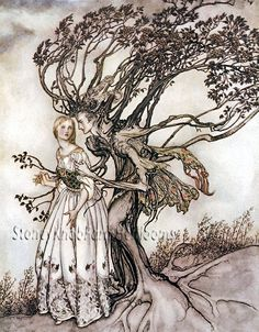 The Woman in the Wood ~ Arthur Rackham ~ Counted Cross Stitch Pattern #StoneyKnobFarmHeirlooms #CountedCrossStitch
