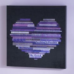 Graphic Quotes Wall Art - Black/Purple - for one of the Grand's rooms.