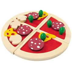 Wooden Play Food: Selecta Toys Pizza Speciale - Wooden Pizza