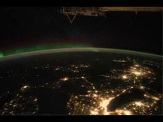 Astonishing video captured from the International Space Station shows that the lights stay on all night in America, even in the nation's sleepy heartland.    The footage begins in northern Mexico and the camera pans northeast to New Brunswick, Canada.     The bright population centers in Texas and the large cities on the Great Plains stand out in bold lights, despite the images being captured at 1am eastern time. As the space station orbits northwest, the Michigan peninsula emerges, with…
