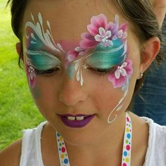 Artist: Denise Cold Inspired by: Karen Harvey Beautiful, yet simple and quick, girls face painting eye design