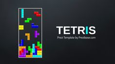 Prezi Template with the classical Tetris game concept.  Colorful building blocks dropping to fill the space below.  All separated design elements.  Move the graphics around, change the background and create a unique layout.  Zoom anywhere and add your story.