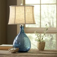 Sapphire Glass Table Lamp