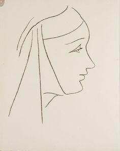 Henri Matisse - Frontispiece, in the book Lettres (Lettres Portugaises) by Marianna Alcaforado (Paris: Tériade Éditeur, 1946)