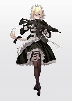 Girls' Frontline, Girls' Frontline, Girls' Frontline / ︿( ̄︶ ̄)︿ - pixiv Blonde Anime Girl, Anime Art Girl, Anime Girls, Manga Girl, Anime Military, Military Girl, Fantasy Character Design, Character Art, Female Characters