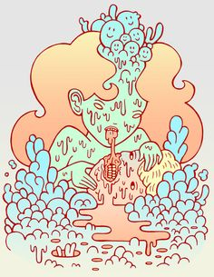Weird, but in a cool way. ♣ Tags: #weird #zombie #illustration