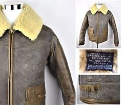 0baae334fa859e POLO RALPH LAUREN Shearling ANJ-4 B-3 Leather Flight WWII Bomber Jacket M