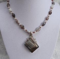 """Botswana agate is sometimes called the """"change stone"""" because of its ability of helping one handle change in a positive way. It is said to gently help one make transitions that could be more painful as could be without it and therefore is a comforting stone. It is said to be one of the best stones to Relieve depression and/or grief as well as being helpful for helping one overcome addictions."""