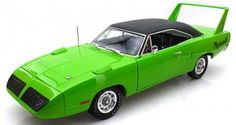 Auto World 1970 Plymouth Superbird Hard Top Green Diecast Car Model