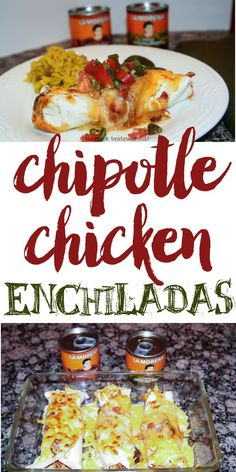 Come see my favorite holiday recipe using LaMorena Jalapeño Peppers AND Chipotle Peppers? DELISH! | http://tiarastantrums.com/blog/chipotle-chicken-enchiladas-with-homemade-salsa-recipes #VivaLaMorena #ad