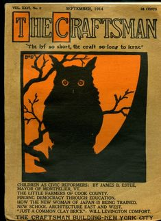 THE CRAFTSMAN MAGAZINE GUSTAV STICKLEY  SEPT.1914 ARTS & CRAFTS MOVEMENT MISSION  | eBay