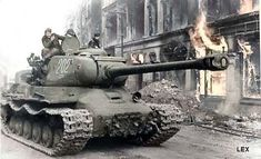Heavy soviet tank IS-2. It's naval 122 mm. cannon could knock out nearly anything.