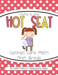 Common Core Math Hot Seats (First Grade